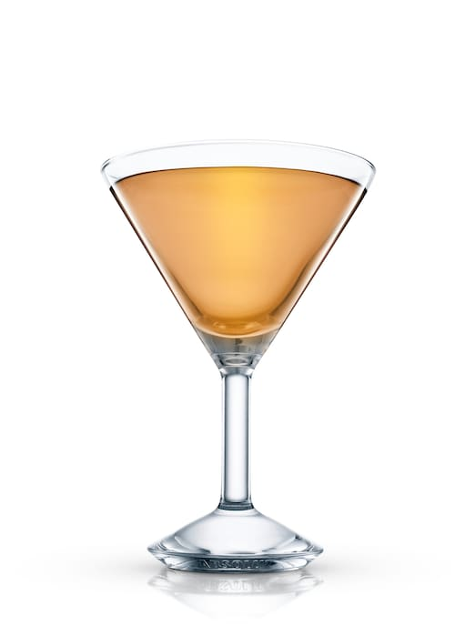 red rum martini against white background