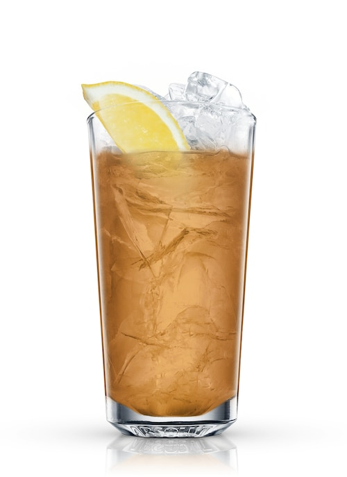 bourbon collins against white background