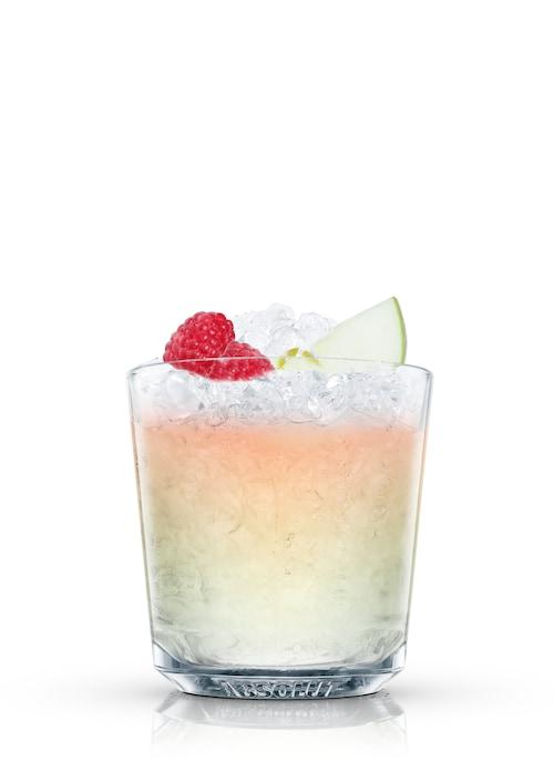 raspberri splash against white background