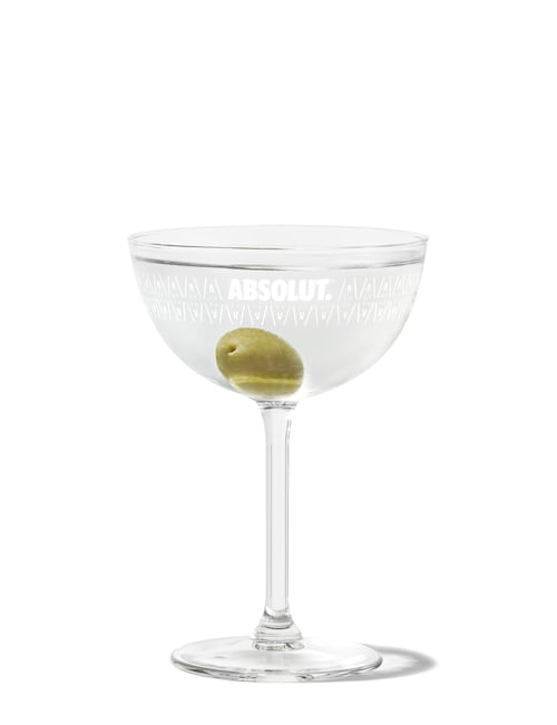 absolut martini against white background