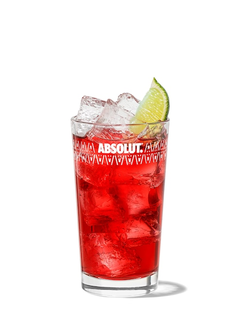 malibu and cranberry against white background