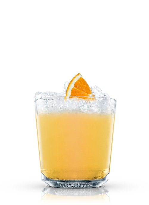 rum punch against white background