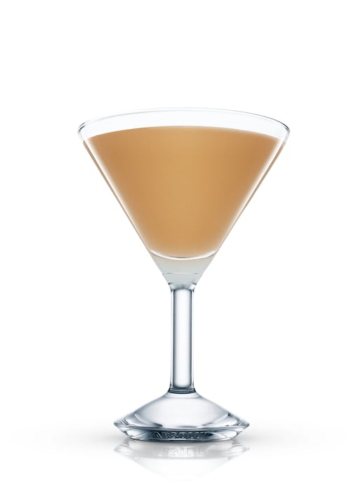 brown derby cocktail against white background