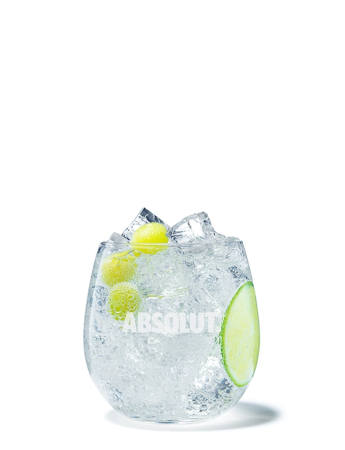 absolut grape soda against white background