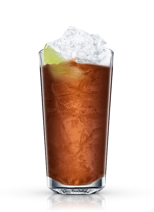 cuba libre against white background