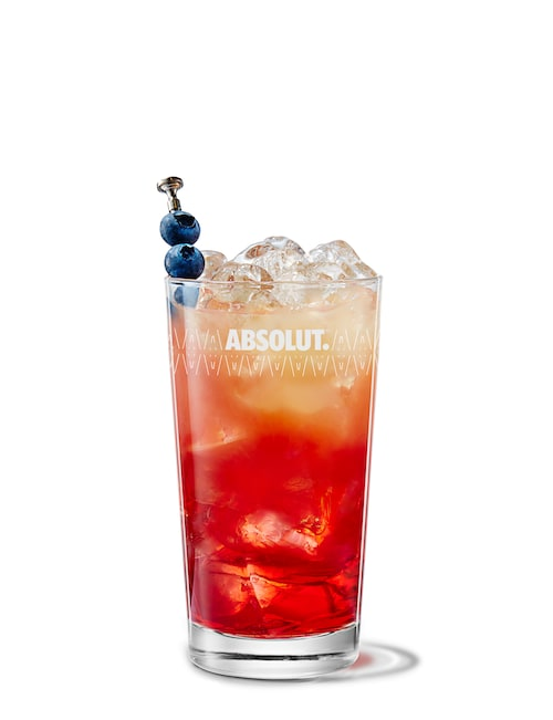 absolut berry and apple breeze against white background