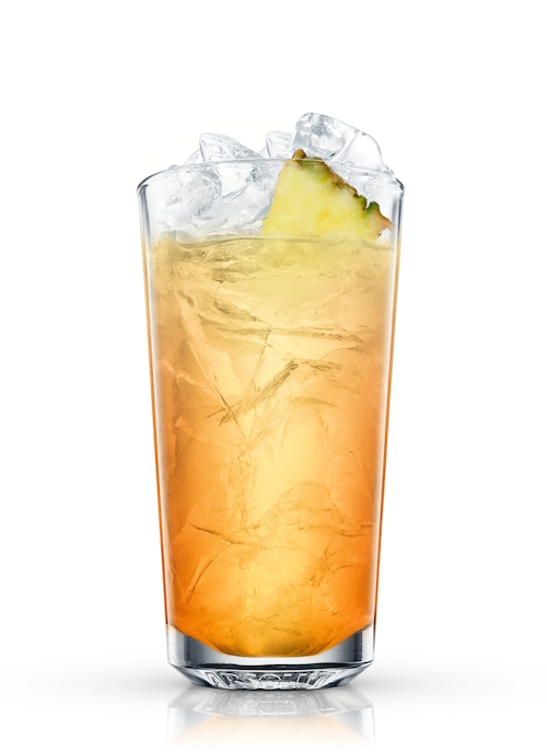 cuba ice tea against white background
