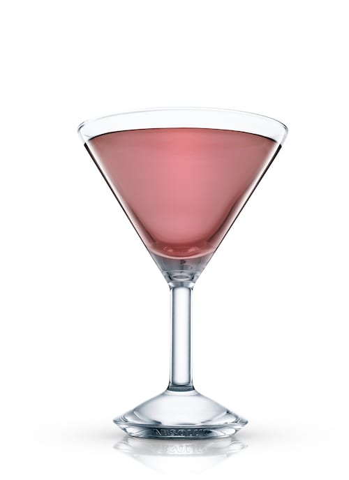 black forest gateau martini against white background