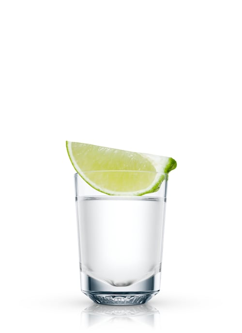 absolut chilled shot against white background