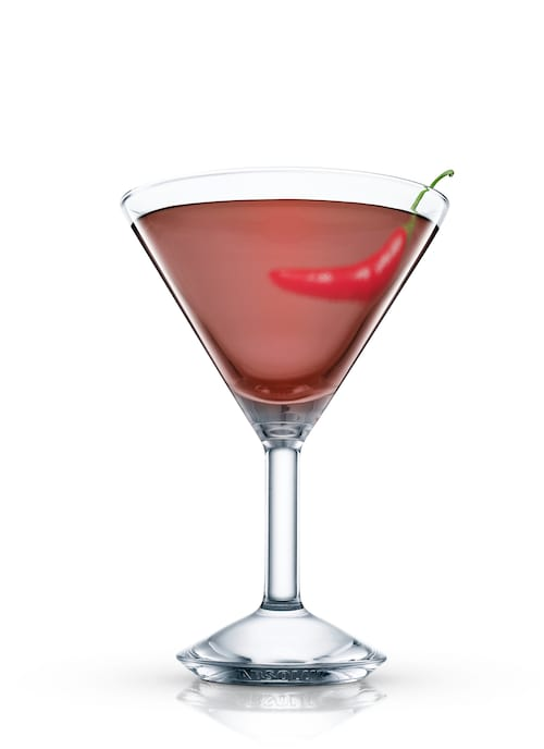 absolut chocolate chili martini against white background