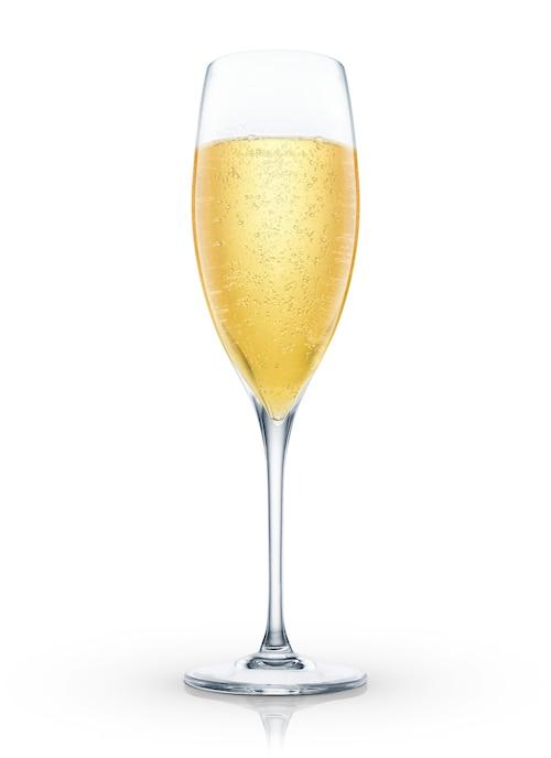 champagne flip against white background