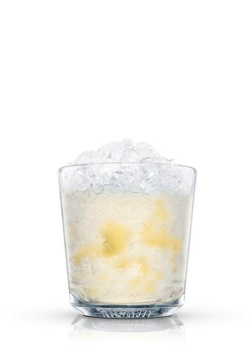 absolut citron pineapple fusion against white background
