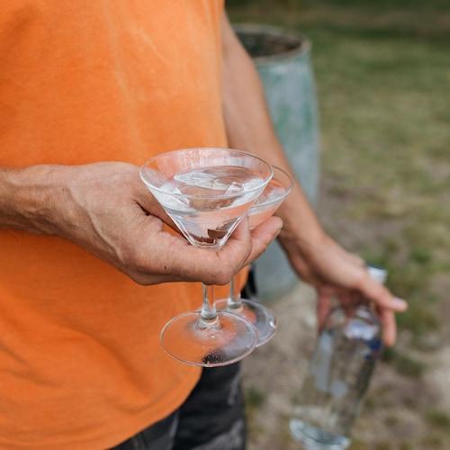 chocolate martini in environment