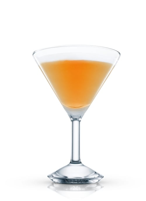 quadruple orange martini against white background