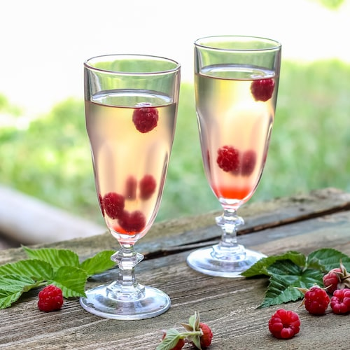 raspberry cocktail in environment