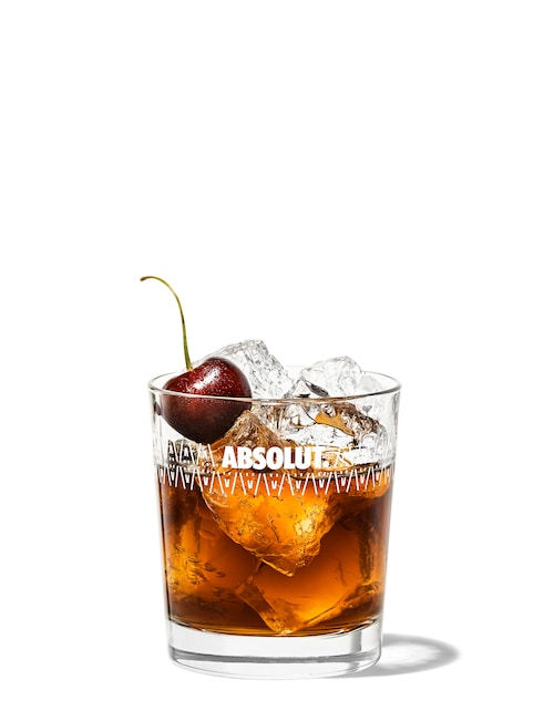 black russian against white background