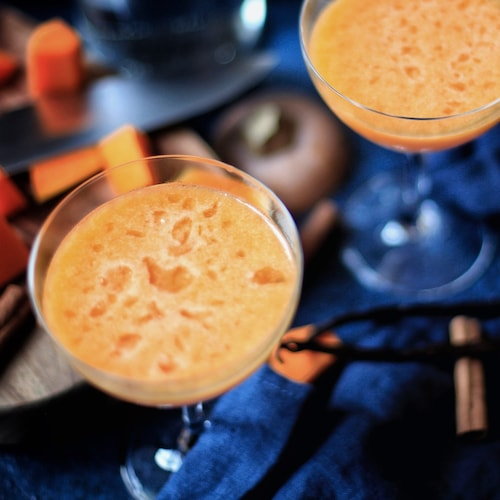 pumpkin pie martini in environment