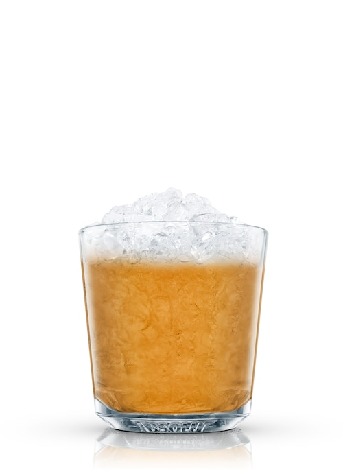 whiskey sour in the rough against white background