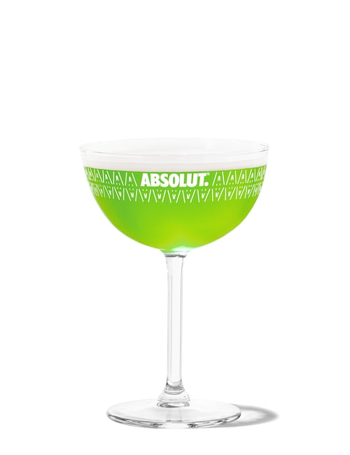 absolut re-tini against white background