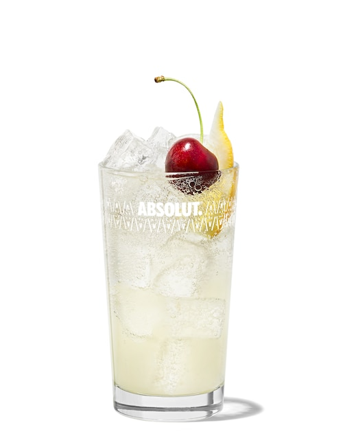tom collins against white background