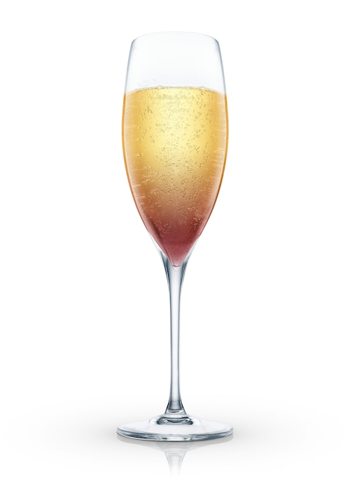 kir royal against white background