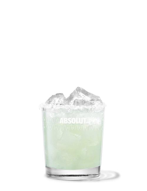 absolut lime vodkarita against white background