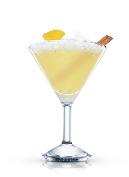 the lemony snickets cocktail against white background
