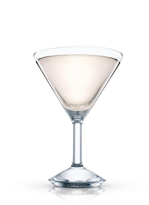 hazelnut martini against white background
