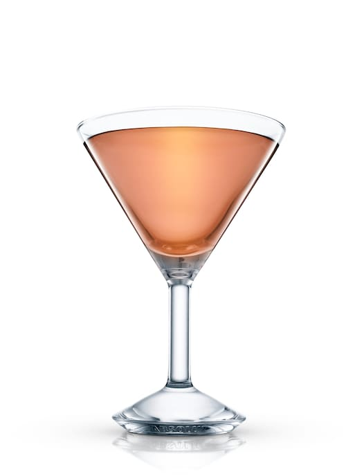 absolut peach sweety against white background