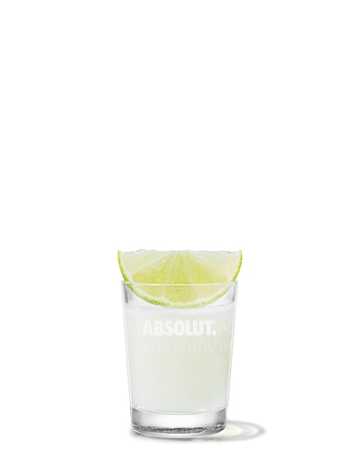 absolut pear kamikaze against white background