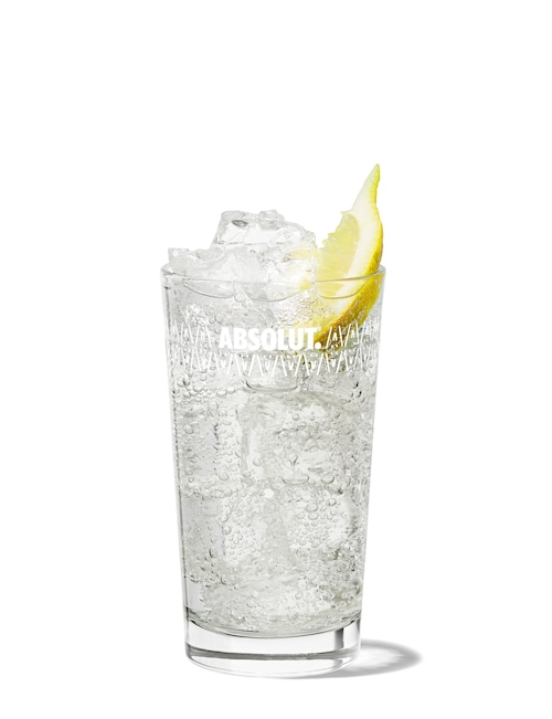 gin tonic against white background