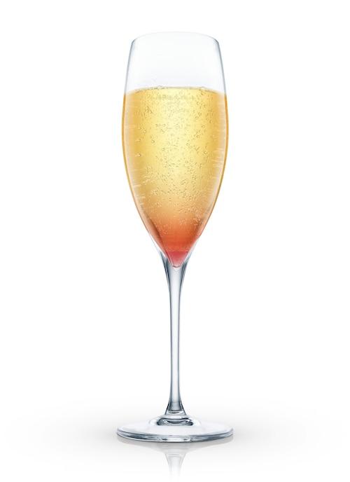 champagne manhattan against white background
