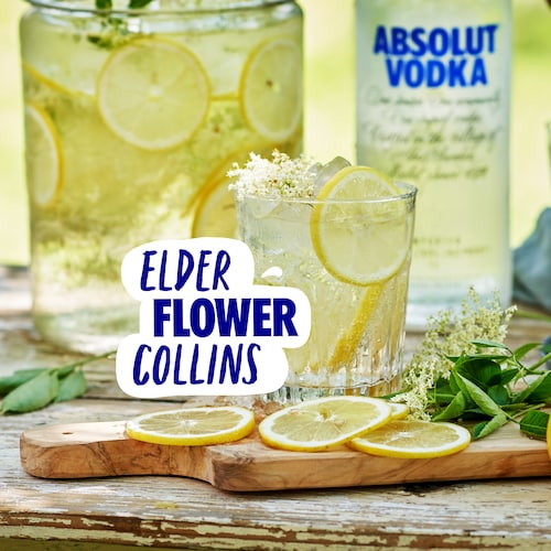 elderflower collins in environment