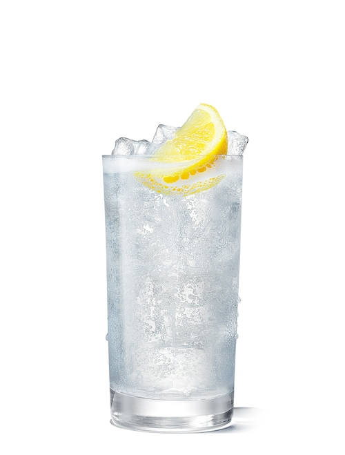absolut fizzy tonic against white background