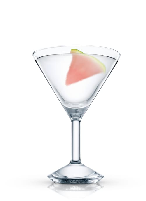 red melontini against white background