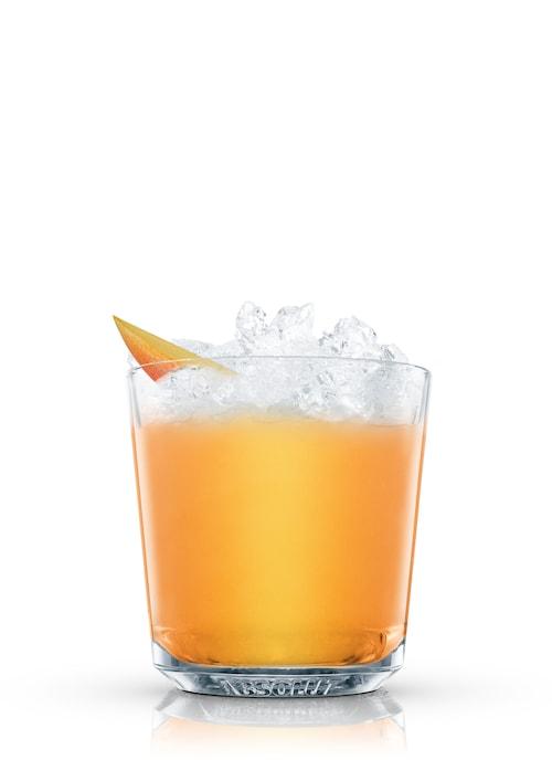absolut mango crush against white background