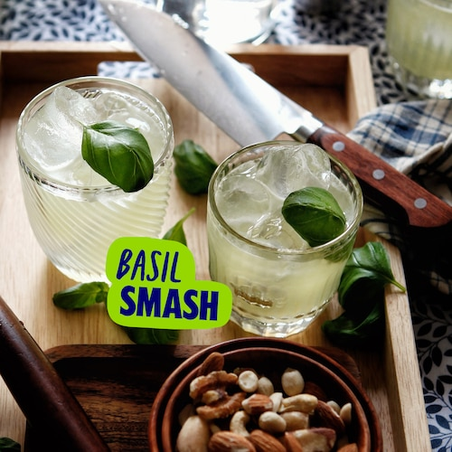 vodka basil smash in environment