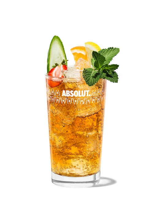 pimm's cup  against white background