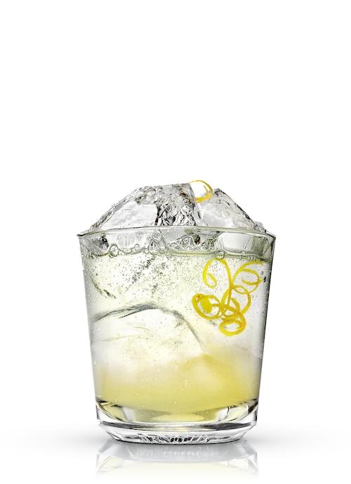 absolut cilantro lemonade against white background