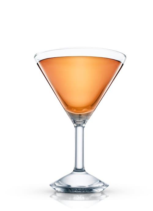 whisky cocktail against white background
