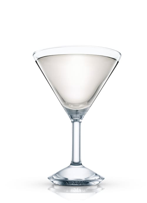 the royal palm cocktail against white background