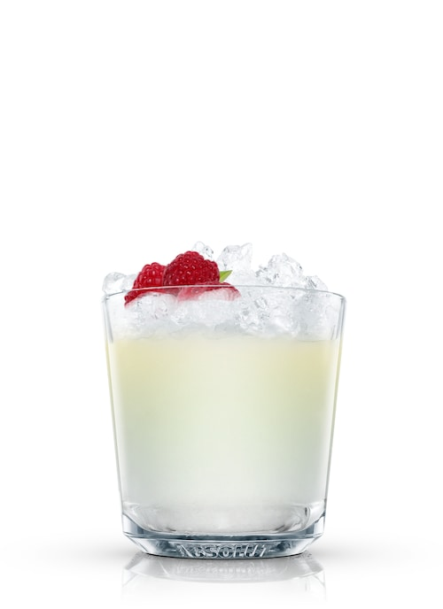 absolut raspberri splash against white background