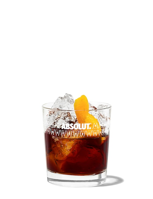 the 100 negroni against white background