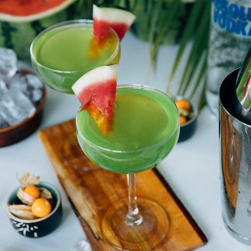 melon martini in environment