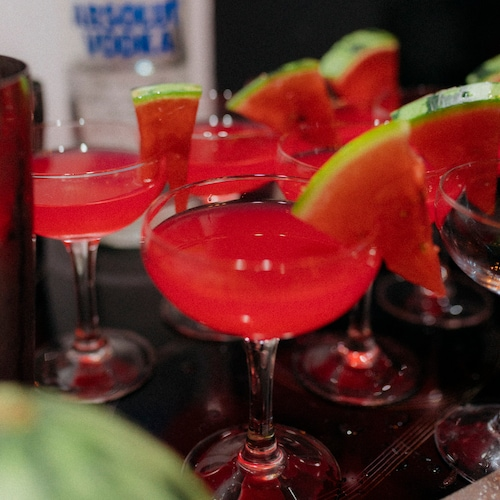 watermelon martini in environment