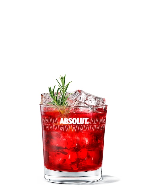 cranberry punch against white background