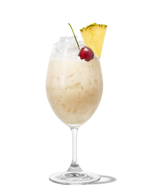 malibu piña colada against white background