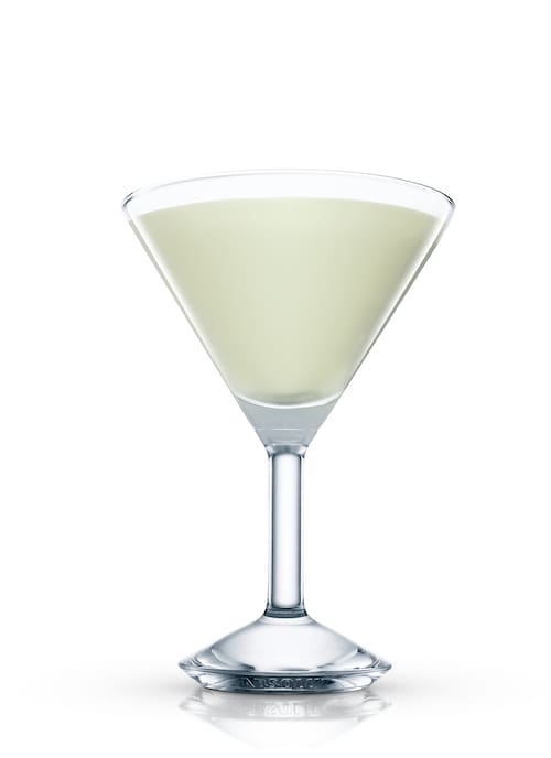 melon collie martini against white background