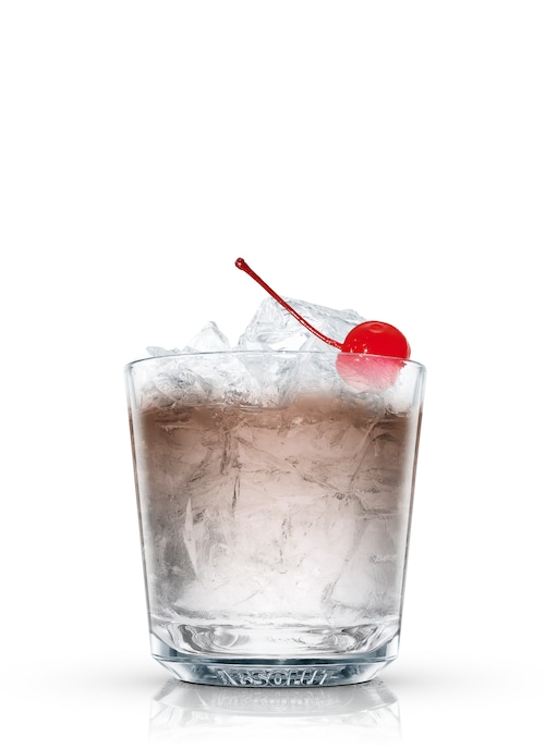 black russian 100 against white background