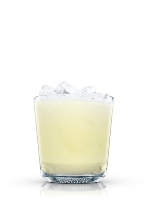 cream fizz against white background